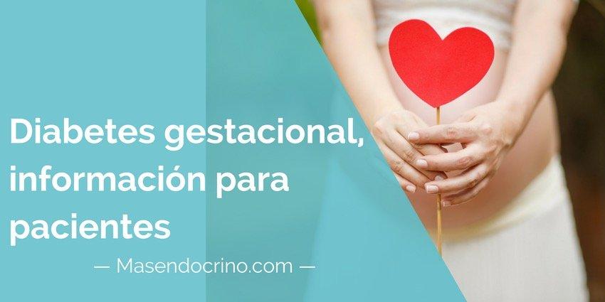 Diabetes Gestacional Información