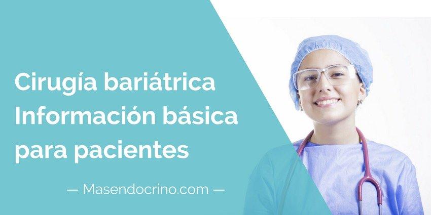 Cirugía Bariátrica Informacion Pacientes
