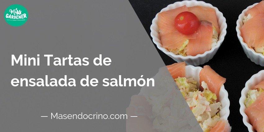 Mini tartas de salmón ahumado